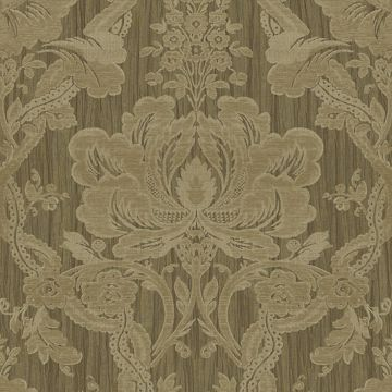 Picture of Brown Damask Wallpaper
