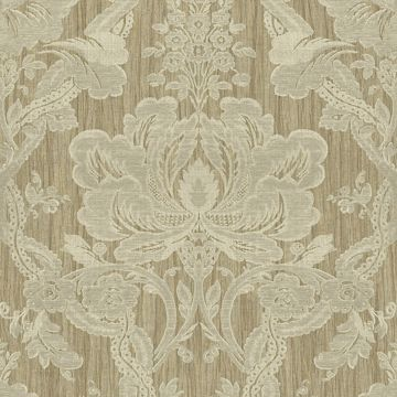 Picture of Khaki Damask Wallpaper
