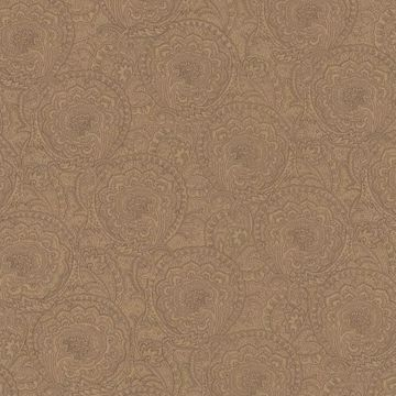Picture of Chestnut Geometric Floral Wallpaper