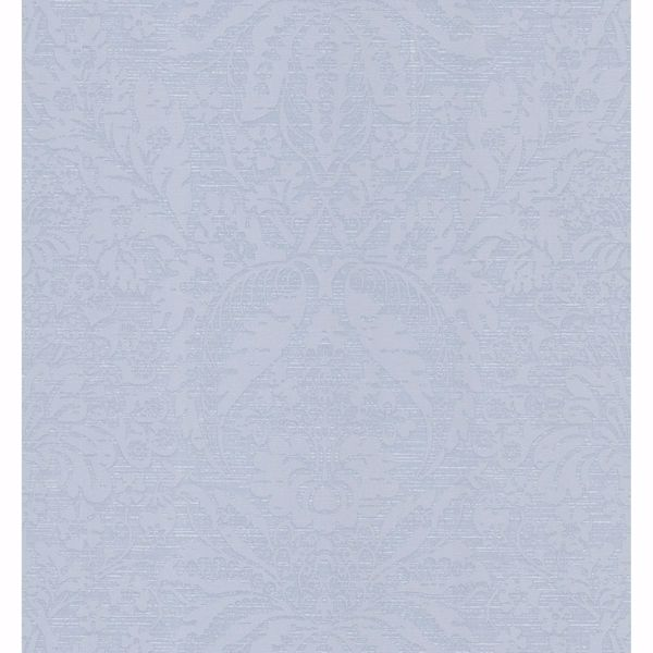Picture of Light Blue Faux Linen Wallpaper