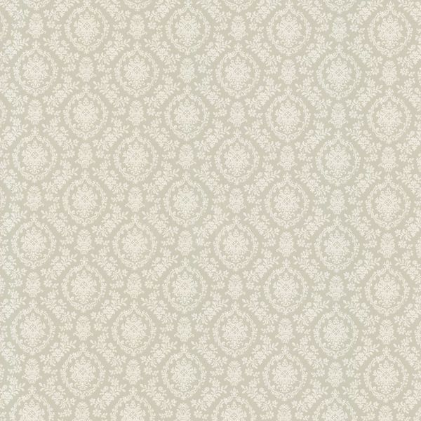 Picture of Taupe Geometric Floral Wallpaper