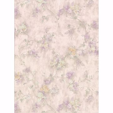 Picture of Sweet Pea Beige Texture Floral Wallpaper