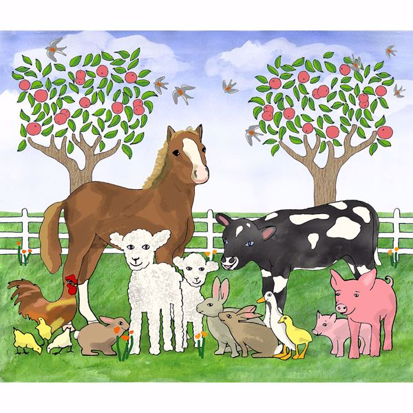 Picture of Farm Animals Wall Mural