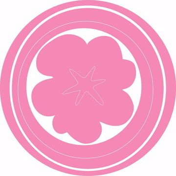 Picture of Pink Hooplah Dot Decal