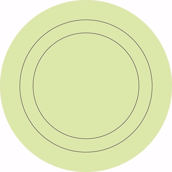 Picture of Pea Pod Die Cut Circle Decals