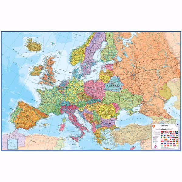 Picture of Europe Dry Erase Map