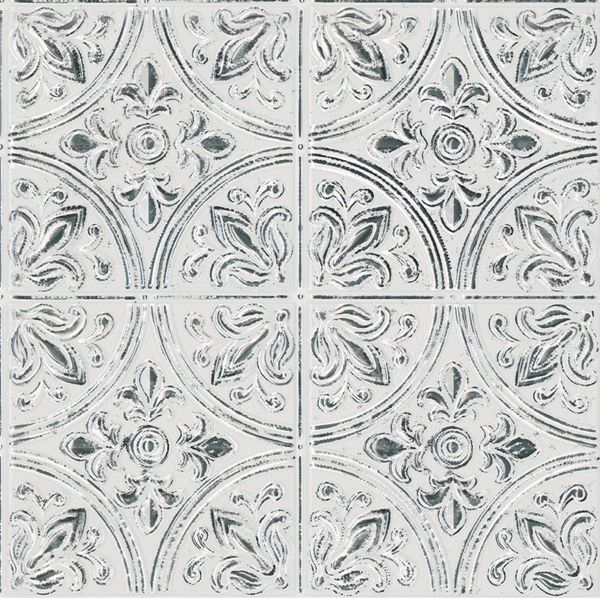 Picture of Chelsea Antique White Faux Metallic Tiles Peel and Stick Tiles