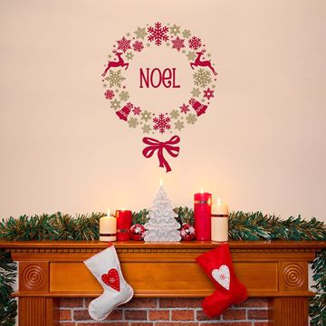 Picture of Holiday Wreath Wall Stickers