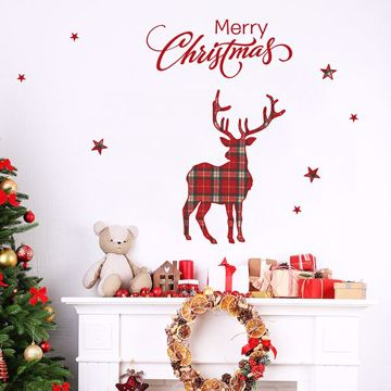Picture of Tartan Stags Wall Stickers