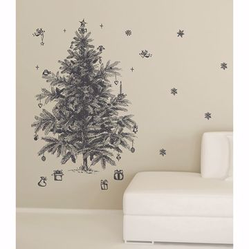 Picture of Sketched Holiday Tree Wall Stickers