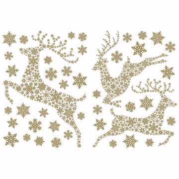 Picture of Gold Stags Wall Stickers