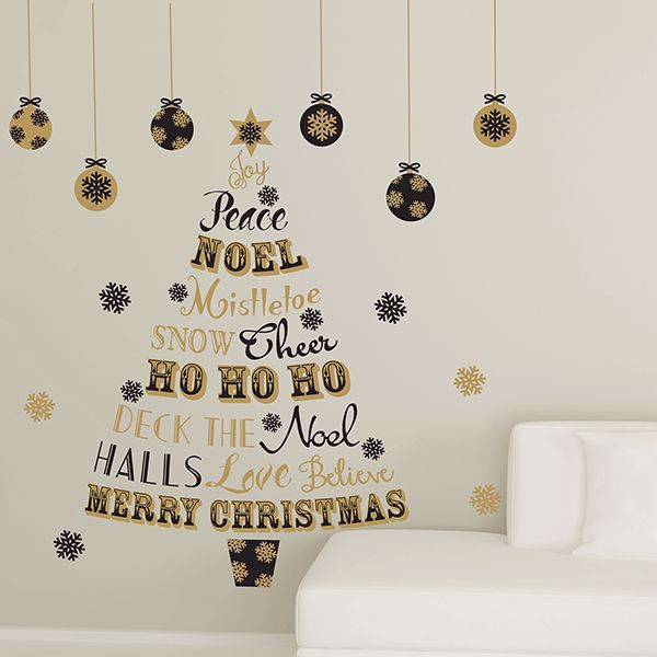 Picture of Holiday Quote Tree Wall Stickers