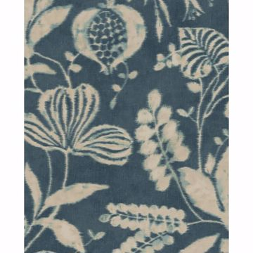 Picture of Arvada Indigo Botanical Wallpaper