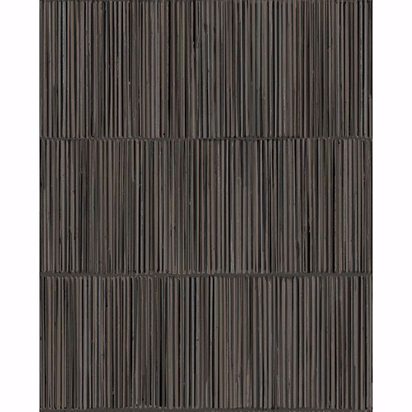 Picture of Aspen Charcoal Natural Stripe Wallpaper