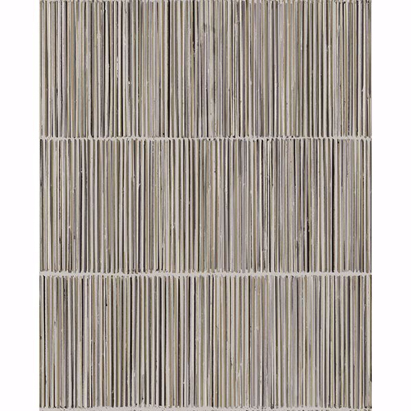 Picture of Aspen Grey Natural Stripe Wallpaper