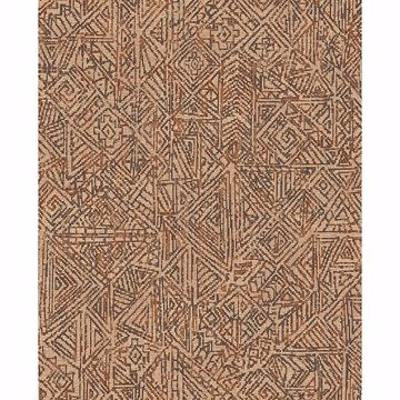 Picture of Longmont Burnt Sienna Global Geometric Wallpaper