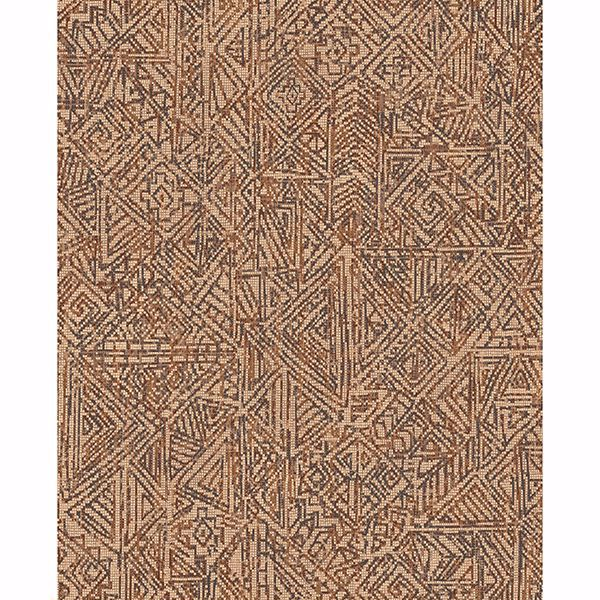 Picture of Longmont Burnt Sienna Global Geometric Wallpaper