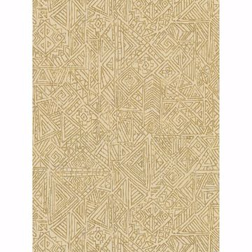 Picture of Longmont Gold Global Geometric Wallpaper