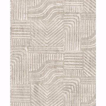 Picture of Pueblo Light Grey Global Geometric Wallpaper