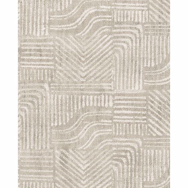 Picture of Pueblo Light Grey Global Geometric Wallpaper