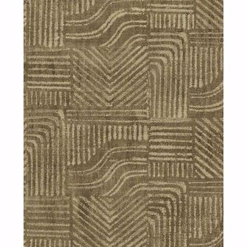 Picture of Pueblo Light Brown Global Geometric Wallpaper