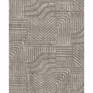 Picture of Pueblo Taupe Global Geometric Wallpaper