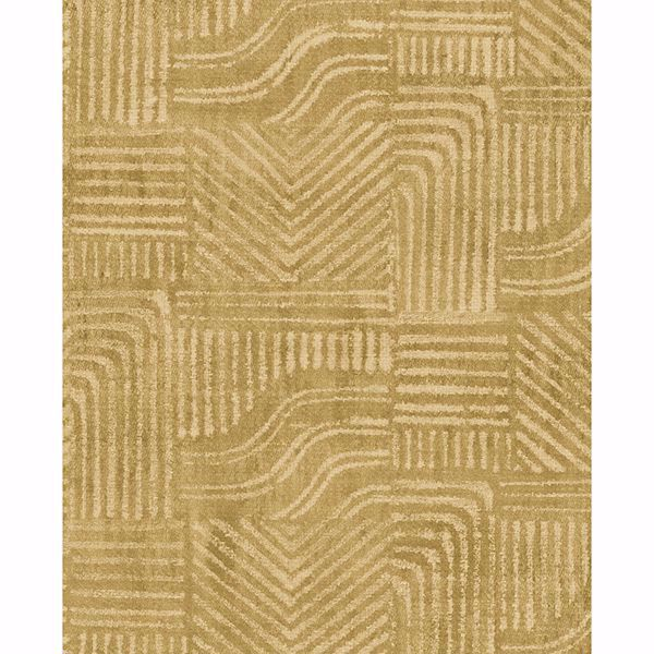 Picture of Pueblo Mustard Global Geometric Wallpaper