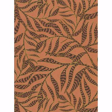 Picture of Montrose Coral Leaves Wallpaper