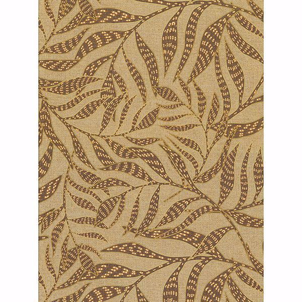 Picture of Montrose Coffee Leaves Wallpaper