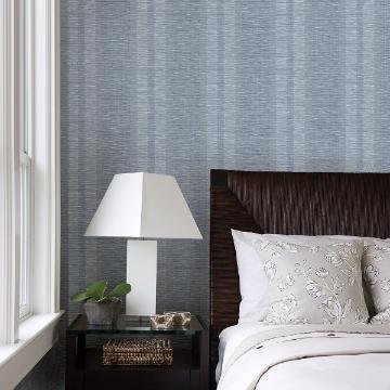 Picture of Pezula Blue Texture Stripe Wallpaper