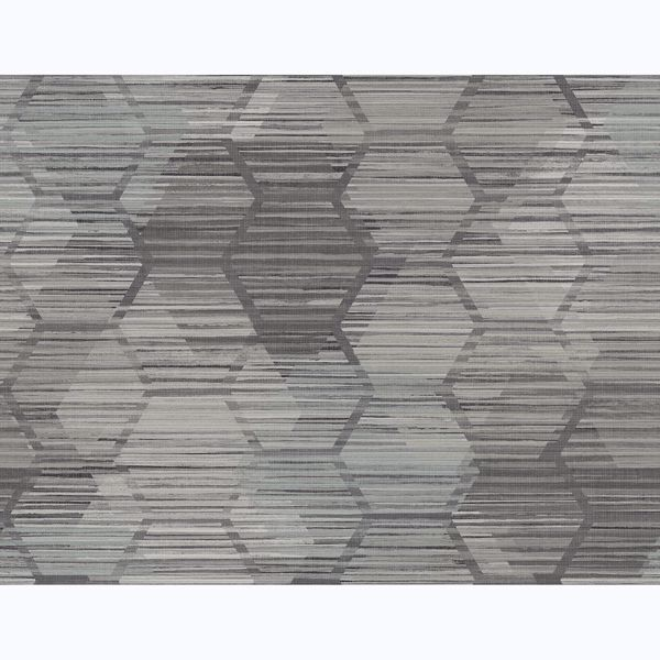 Picture of Jabari Charcoal Geometric Faux Grasscloth Wallpaper
