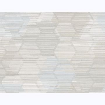 Picture of Jabari Grey Geometric Faux Grasscloth Wallpaper