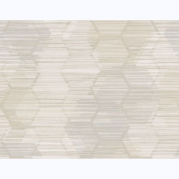 Picture of Jabari Wheat Geometric Faux Grasscloth Wallpaper