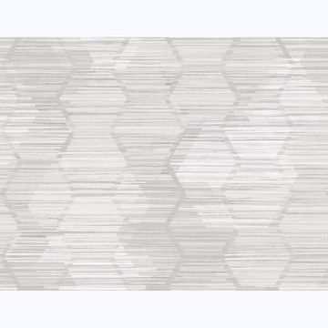 Picture of Jabari Light Grey Geometric Faux Grasscloth Wallpaper