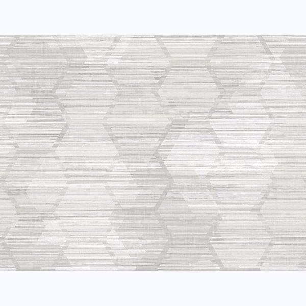 Picture of Jabari Light Grey Geometric Faux Grasscloth Wallpaper