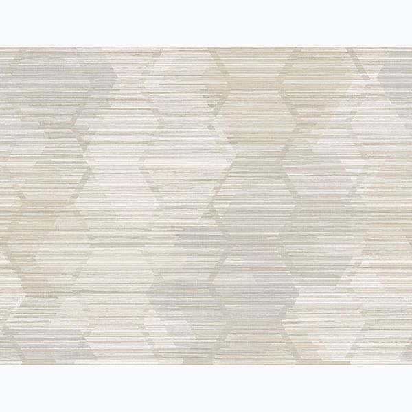 Picture of Jabari Beige Geometric Faux Grasscloth Wallpaper