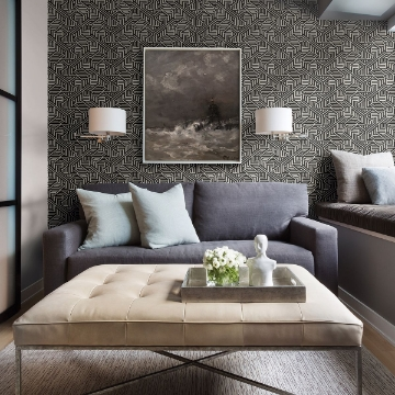 Picture of Nambiti Black Geometric Wallpaper