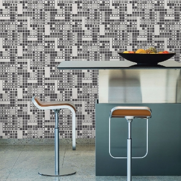 Picture of Bantry Black Geometric Wallpaper