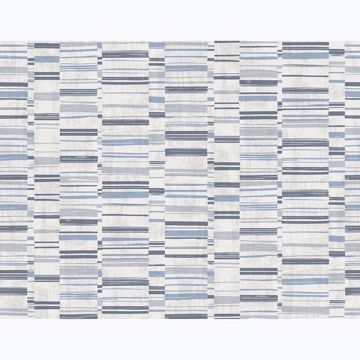 Picture of Fresnaye Blue Linen Stripe Wallpaper
