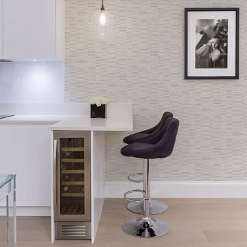 Picture of Fresnaye Neutral Linen Stripe Wallpaper