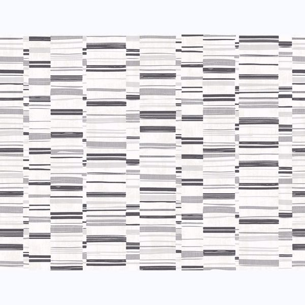 Picture of Fresnaye Black Linen Stripe Wallpaper