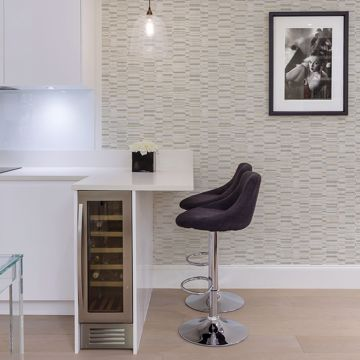 Picture of Fresnaye Grey Linen Stripe Wallpaper