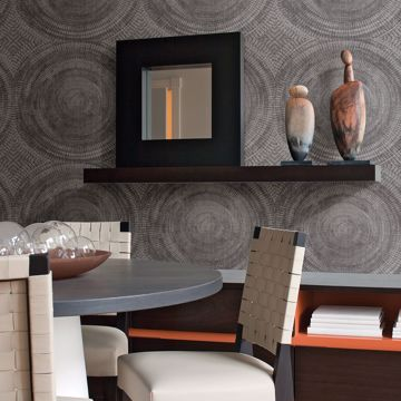 Picture of Lalit Taupe Medallion Wallpaper