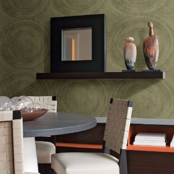 Picture of Lalit Olive Medallion Wallpaper