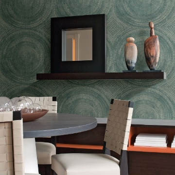 Picture of Lalit Teal Medallion Wallpaper