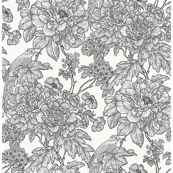 Nus3544 Black White Sudbury Peel And Stick Wallpaper By Nuwallpaper