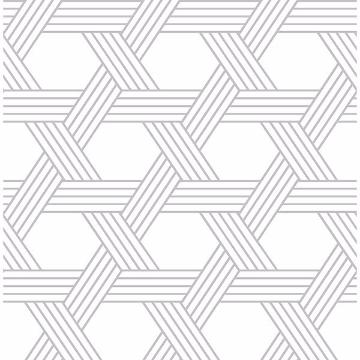 Picture of Silver Illusion Self Adhesive Wallpaper