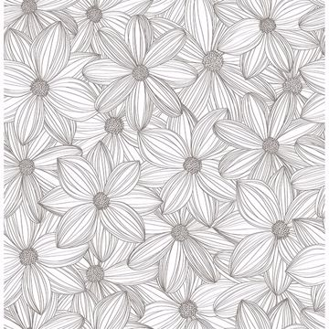 Picture of Taupe Cascade Self Adhesive Wallpaper