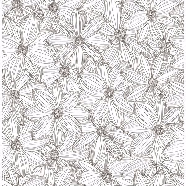 Sls3526 Taupe Cascade Self Adhesive Wallpaper By Scott Living