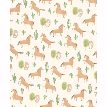 Picture of Tuva Brown Horse Wallpaper